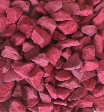 Decorative COLOURED Stones Pebbles Gravels LARGE - CHILLI RED